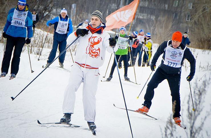 В «Солнечной долине» прошла всероссийская гонка «Лыжня России»