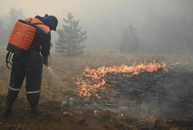 Ситуация с лесными пожарами на юге Челябинской области стабилизируется