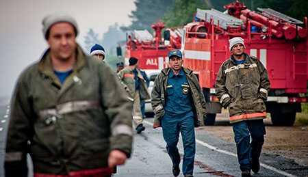 1-ый пожар влесу Челябинской области всамом начале сезона