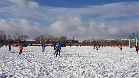 Впоселке Новосинеглазово построили стадион «Лидер»