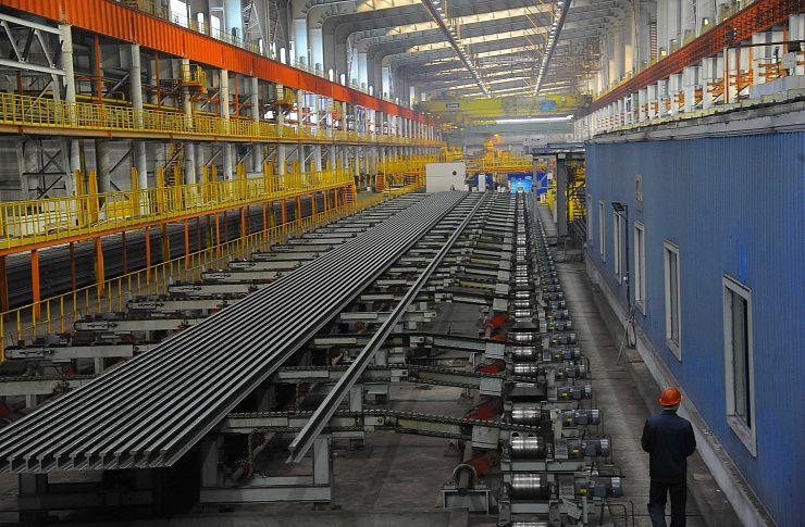 1,5 млн тонн продукции произведено нарельсосбалочном стане ЧМК