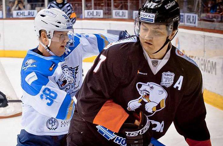 «Трактор» одержал победу над «Барысом» вматче плей-офф КХЛ